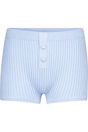 LIVE THE PROCESS Mujer Pantalones cortos - Shorts de punto acanalado
