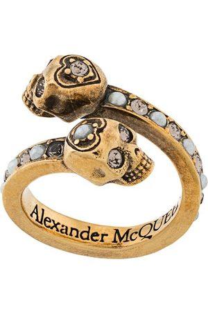 Alexander McQueen Anillo cruzado con calavera