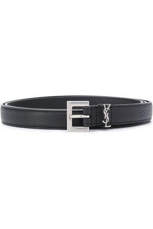 Saint Laurent Cinturón ajustable con monograma
