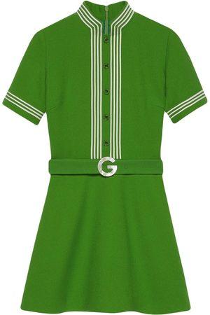 Gucci Vestido con ribete de rayas