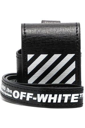 OFF-WHITE DIAG SAFFIANO AIRPODS CASE BLACK WHITE