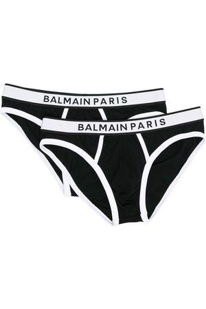Balmain Hombre Calzoncillos y Boxers - Calzoncillos con logo en la cinturilla