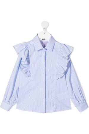 Msgm Niña Camisas - Camisa con detalle de volantes