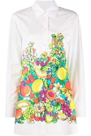 Moschino Camisa larga con estampado de frutas