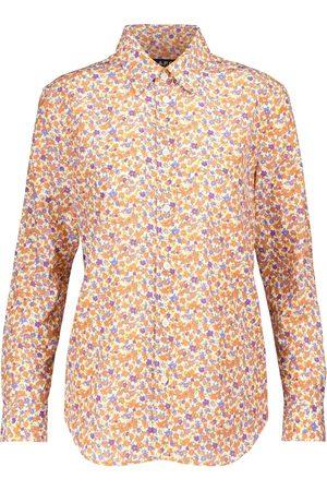 A.P.C. Camisa Gina de seda y algodón floral
