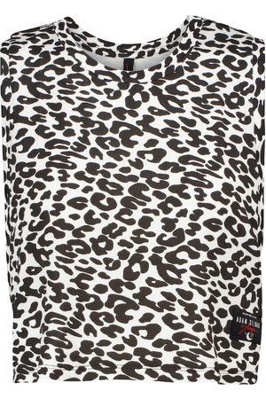 Adam Selman Sport Crop top Sleep con print de leopardo
