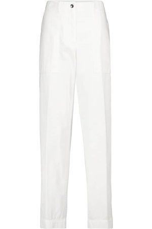 DRIES VAN NOTEN Pantalones tapered de sarga