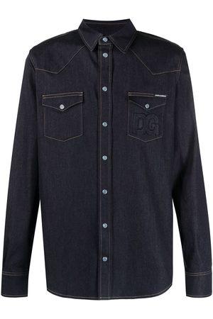 Dolce & Gabbana Camisa vaquera con costuras en contraste