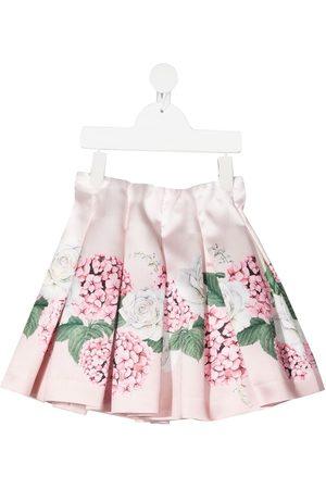 MONNALISA Falda plisada con estampado floral