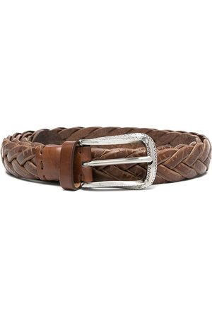 Brunello Cucinelli Cinturón con diseño tejido