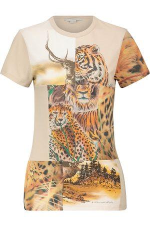 Stella McCartney Camiseta de algodón estampada