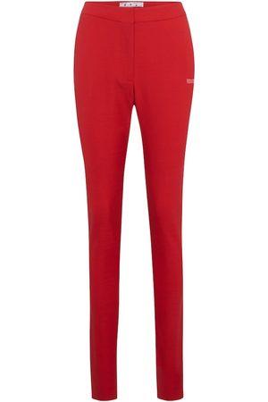 OFF-WHITE Pantalones ajustados de tiro alto