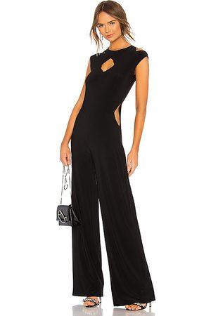Norma Kamali Sleeveless cut out jumpsuit en color talla L en - Black. Talla L (también en M, S, XS, XXS).