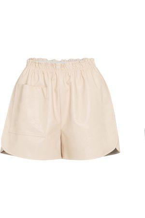 Stella McCartney Shorts de piel sintética