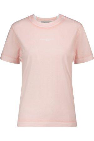 Stella McCartney Camiseta de algodón con logo
