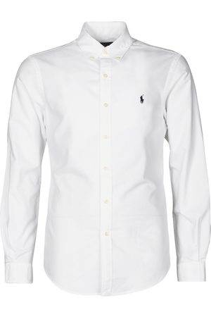 Polo Ralph Lauren Camisa manga larga CHEMISE CINTREE SLIM FIT EN OXFORD LEGER TYPE CHINO COL BOUTONNE para hombre