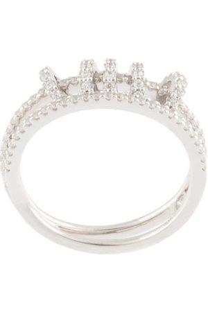 APM Monaco Anillo doble con detalle de anillos