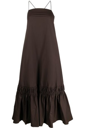 Jil Sander Ruffle-hem long dress
