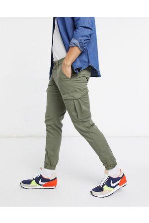 Jack & Jones Pantalones caqui cargo con bajos ajustados de Intelligence-Verde
