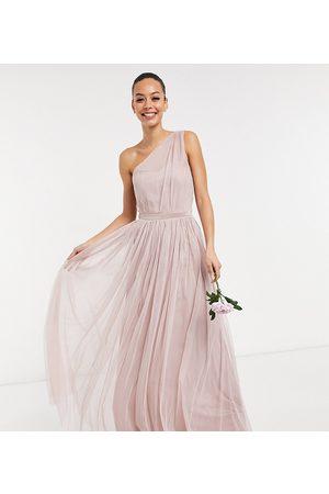 ANAYA Vestido de dama de honor largo asimétrico de tul Anaya With Love Tall