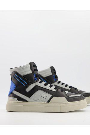 ASOS DESIGN Hombre Zapatillas deportivas - Zapatillas hi-top azules y grises de