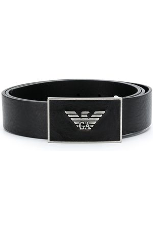 Emporio Armani Hombre Cinturones - Cinturón con logo de metal