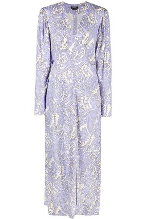 Isabel Marant Vestido largo con motivo de cachemira