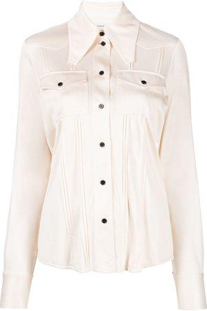 Victoria Beckham Mujer Camisas - Camisa con cuello de pico