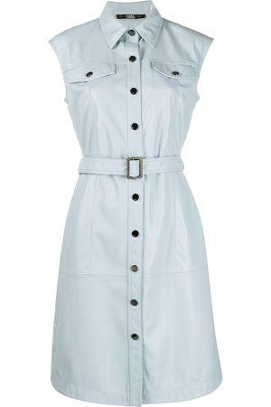Karl Lagerfeld Vestido corto sin mangas con cinturón