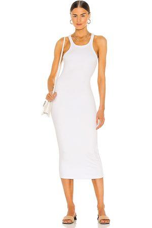 LnA Mujer Midi - Vestido midi en color talla L en - White. Talla L (también en M, S, XS).