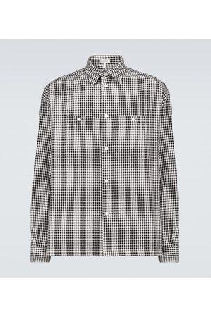 Loewe Camisa militar de cuadros