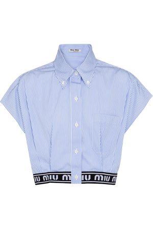 Miu Miu Camisa de popelín de algodón