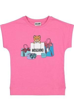 Moschino Camiseta de punto fino de algodón