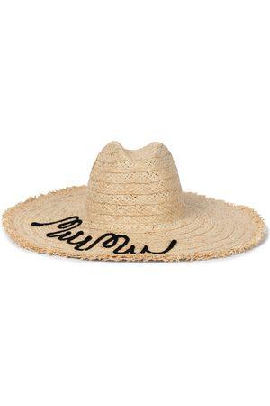Miu Miu Sombrero de rafia bordado