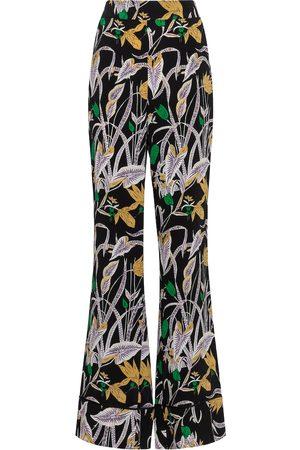 Diane von Furstenberg Pantalones Federica de tiro alto