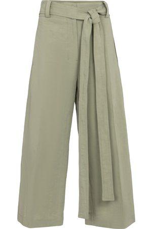 Moncler Genius 2 MONCLER 1952 pantalones cropped de algodón y lino
