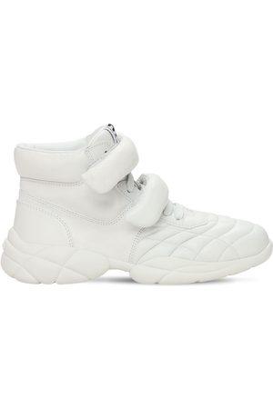 Miu Miu   Mujer Sneakers Altas De Piel 20mm 36