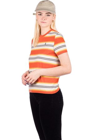 Volcom Mujer Manga corta - Site Linez T-Shirt naranja