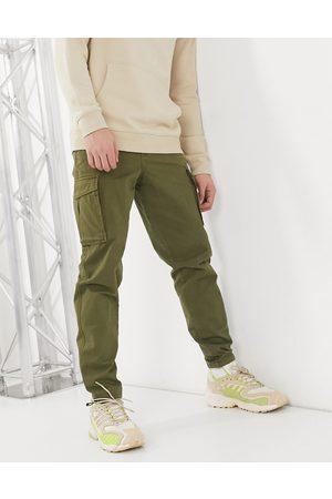 Selected Hombre Pantalones cargo - Pantalones cargo color caqui con bajos ajustados de -Verde