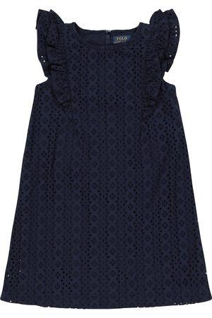 Ralph Lauren Vestido calado de algodón
