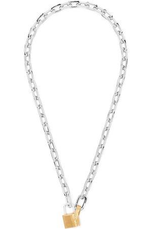 AMBUSH Collar con cadena y candado pequeño