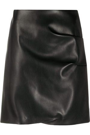 Patou Falda corta de piel artificial