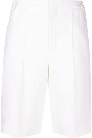 Saint Laurent Pantalones cortos de vestir a rayas