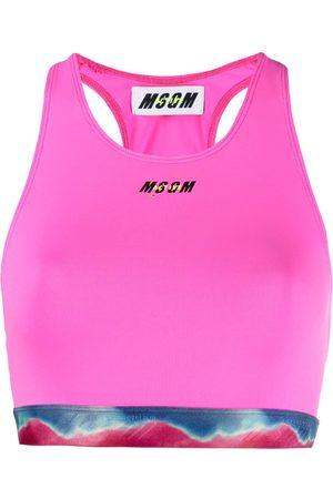 Msgm Mujer Ropa interior - Sujetador deportivo con cinturilla del logo