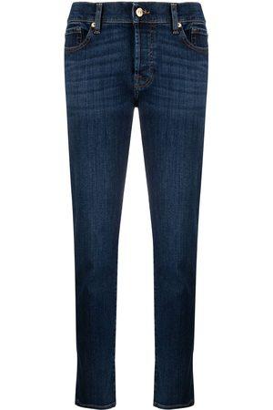 7 for all Mankind Mujer Cintura alta - Vaqueros slim con diseño de cinco bolsillos