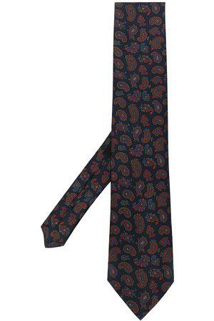 Etro Corbata con estampado de cachemira
