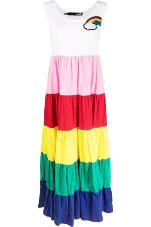 Love Moschino Vestido largo con estampado de arcoíris
