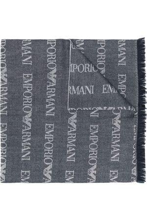 Emporio Armani Hombre Bufandas y Pañuelos - Bufanda larga de punto con logo