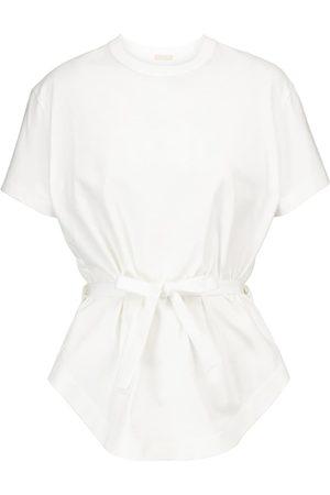 Alaïa Camiseta de algodón con péplum