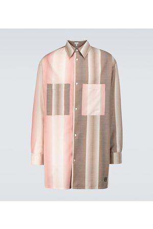 Loewe Camisa de lana y algodón oversized